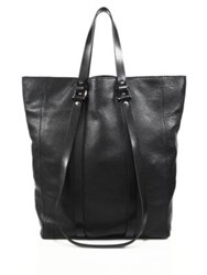 Cnc Costume National Leather Tote Black