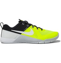 Nike Training Metcon 1 Neon Mesh And Rubber Sneakers Yellow