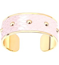 Aspinal Of London Athena Python Leather Cuff Bracelet Rose