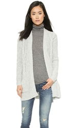 Madewell Fuzzy Cardigan Heather Platinum