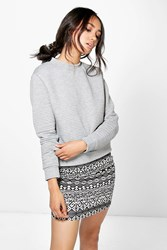 Boohoo Kiera Aztec Printed Mini Skirt Multi
