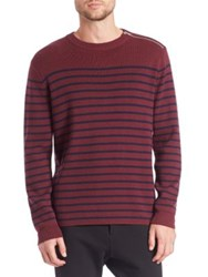 The Kooples Striped Wool Blend Sweater Red Multi