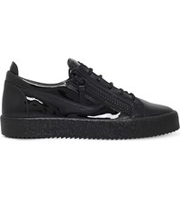 Giuseppe Zanotti Jayce Patent Leather Low Top Trainers Black