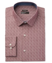 Bar Iii Men's Wear Me Out Slim Fit Wine Floral Print Dress Shirt Only At Macy's