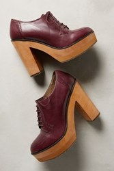 Anthropologie Cubanas Platform Oxford Heels Purple 40 Euro Heels