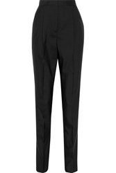 Vionnet Pleated Wool And Silk Blend Tapered Pants Black