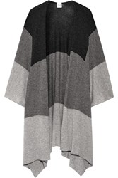 Madeleine Thompson Ingelby Color Block Cashmere Wrap Gray