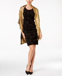 Betsey Johnson Blue Label Metallic Crinkle Wrap Gold