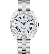 Cartier Cle De 35Mm 18Ct White Gold And Diamond Watch