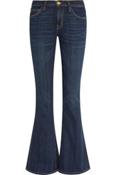 Current Elliott The Low Bell Low Rise Flared Jeans Dark Denim