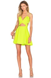 Nbd X Naven Twins Tell Me More Fit And Flare Dress Lemon