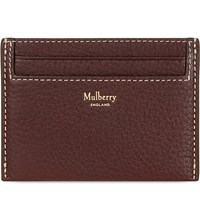 Mulberry Grained Leather Card Holder Oxblood