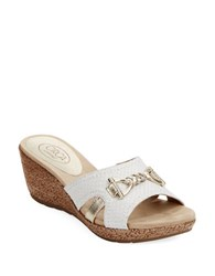 Circa Joan And David Pence Wedge Sandals White