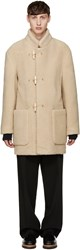 Christophe Lemaire Beige Faux Shearling Gloverall Edition Duffle Coat