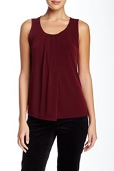 Anne Klein Pleated Tank Red