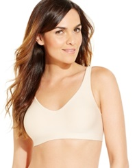 Hanes Platinum Smooth Inside And Out Wireless Bra Hp04 Soft Taupe