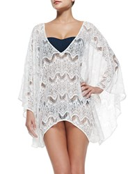 Alice Olivia Violet Sheer Lace Arched Coverup Off White