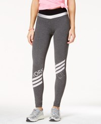Material Girl Juniors' Printed Leggings Only At Macy's Charcoal Heather