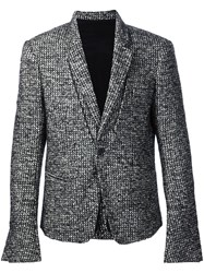Haider Ackermann Woven Single Button Blazer Black