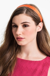 L. Erickson Satin Ribbon Headband Orange Hot Pink