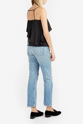 Elizabeth And James Abby Harness Strap Layered Top Black