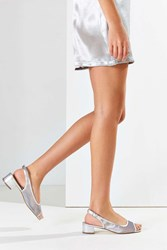 Urban Outfitters Robin Slingback Heel Silver