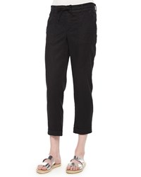 Cj By Cookie Johnson Linen Blend Cropped Pants Women's
