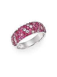 Effy Ruby Pink Sapphire And Sterling Silver Ring Silver Pink