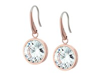 Michael Kors Cz Earrings Rose Gold Clear Earring