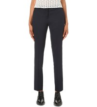 The Kooples Slim Fit Stretch Wool Trousers Navy