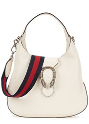 Gucci Dionysus Small Leather Hobo Bag White