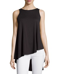 Talia Aubrey Scoop Back Cotton Jersey Tank Black