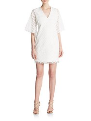 Alexia Admor V Neck Lace Shift Dress White