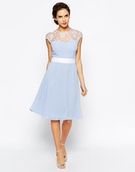 Elise Ryan Midi Prom Dress With Sweetheart Lace Top Lilac