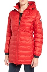 Canada Goose Women's 'Camp' Slim Fit Hooded Packable Down Jacket Red Black