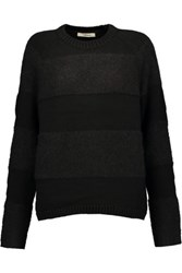 J Brand Rodeo Paneled Knitted Sweater Black