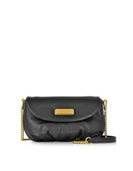 Marc By Marc Jacobs New Q Karlie Black Leather Crossbody Bag