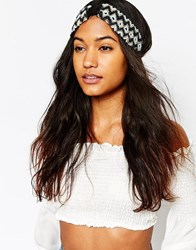 Asos Seedbead Turban Headband Multi