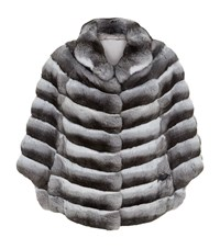 Harrods Of London Long Chinchilla Cape Female Dark Grey