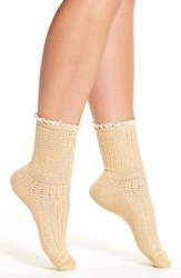 Peony And Moss Women's Lace Trim Crew Socks