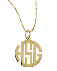 Polished Gold Gothic Font Monogram Charm Kacey K