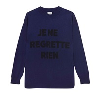 Orwell Austen Cashmere Je Ne Regrette Sweater Navy And Black Blue