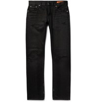 Jean Shop Mick Slim Fit Distressed Denim Jeans Black
