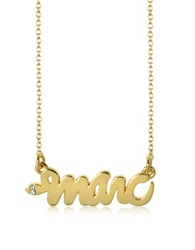 Marc By Marc Jacobs Golden Brass Script Snake Necklace