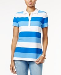 Tommy Hilfiger Striped Polo Shirt Only At Macy's Core Navy