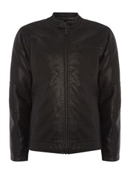 Only And Sons Pu Jacket Black