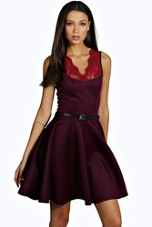 Tall Nadine Scallop Lace Skater