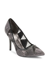 Adrianna Papell Addison Mesh Accented Pumps Pewter