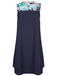 Hotsquash Double Layered Dress In Coolfresh Navy