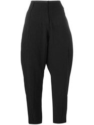 Masnada Cropped Tapered Trousers Black
